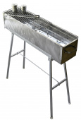 "Party Griller 32"" Stainless Steel Charcoal Grill – Portable BBQ Grill, Yakitori Grill, Kebab Grill, Satay Grill. Makes Juicy Shish Kebab, Shashlik, Spiedini on the Skewer Review thumbnail"