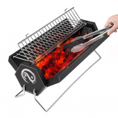 GreKitchen BBQ, Charcoal grill, Foldable and Portable Outdoor Grill with Carry Bag, A Perfect Gift for Barbecue Lovers Review thumbnail